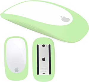 Silicone Case Cover Protective Skin for Magic Mouse 1/2 Silicone Case for Apple Magic iPad Mouse (Matcha Green)