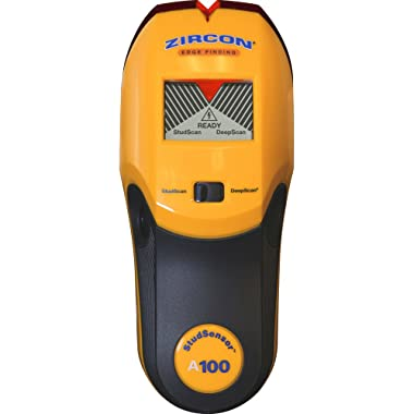Zircon StudSensor A100 New Electronic Wall Scanner / Edge Finding Stud Finder / Live AC WireWarning Detection