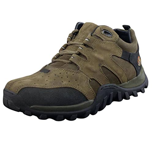 Woodland Men's Olive Leather Sneakers