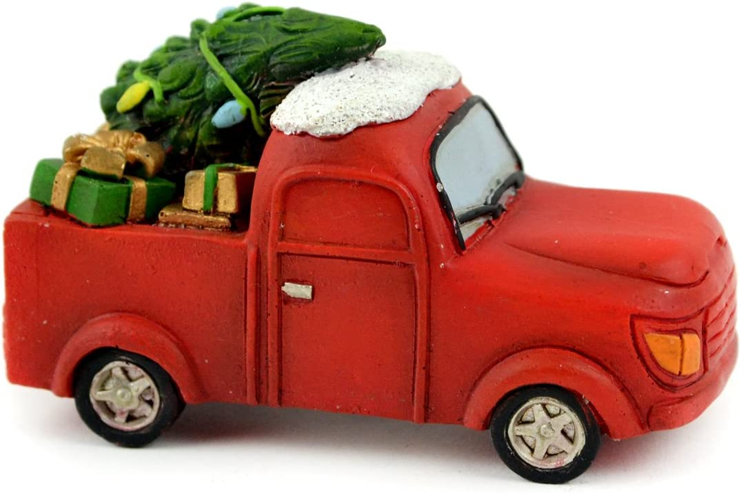 """Touch of Nature 55222 Christmas Red Truck 3.5"""""""