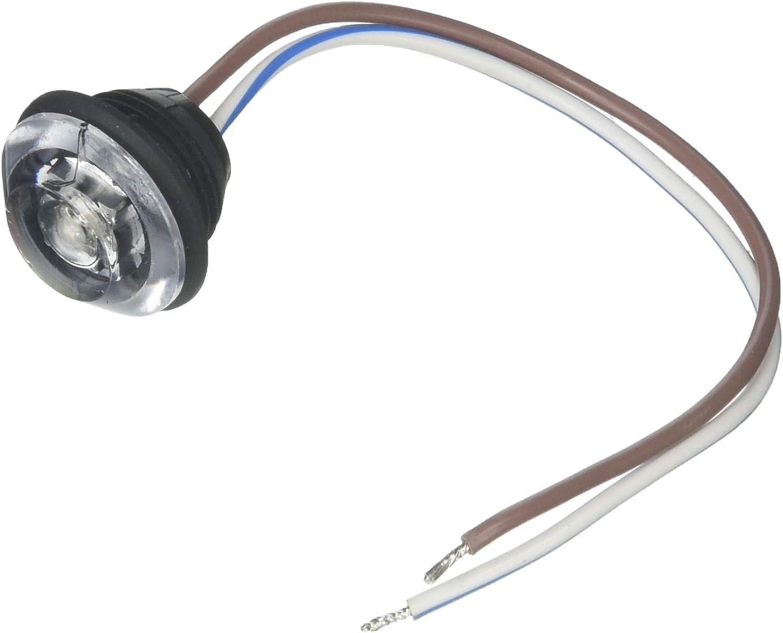 Innovative Lighting LED Clear Lens Bulkhead Shortie Light with 219 Black Grommet