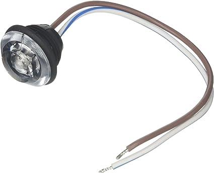 Innovative Lighting LED Clear Lens Bulkhead Shortie Light with Black Grommet