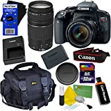 Canon EOS Rebel T7i Digital SLR Camera with EF-S 18-55 IS STM & EF 75-300mm III Zoom Lenses (International Version) + 32GB Accessory Kit w/ HeroFiber Ultra Gentle Cleaning Cloth