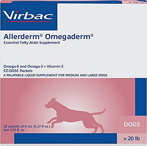 Virbac Allerderm Omegaderm EZ-Dose Packets for Medium Large Dogs 28 Count