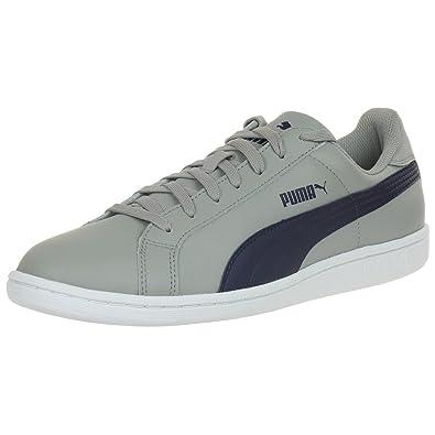 Puma Smash L Leather Sneaker Men Trainers Grey 356722 13  Amazon.co.uk   Shoes   Bags 4b161958d