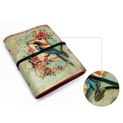 Papelería Vintage PU Cuaderno de Cuero Artificial Creativo ...