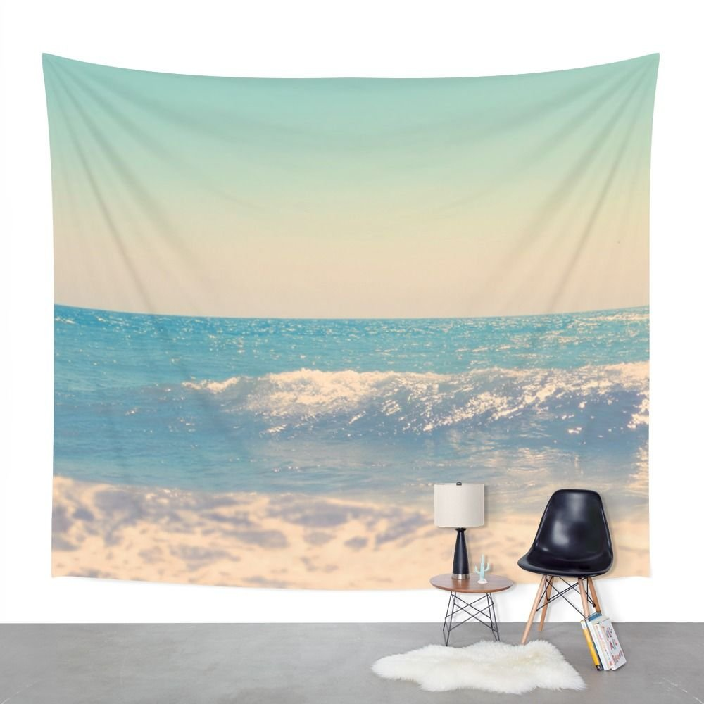 Amazon.com: Society6 Martha\'s Vineyard Beach Photo Wall Tapestry ...