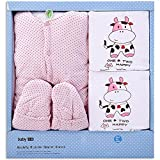 M&C Winter thickening cotton baby clothes suits , pink