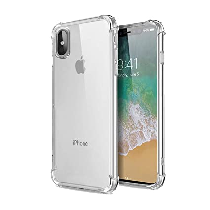 more photos 5708c 44c66 CELLBELL Anti Shock Back Case for iPhone X(Transparent)