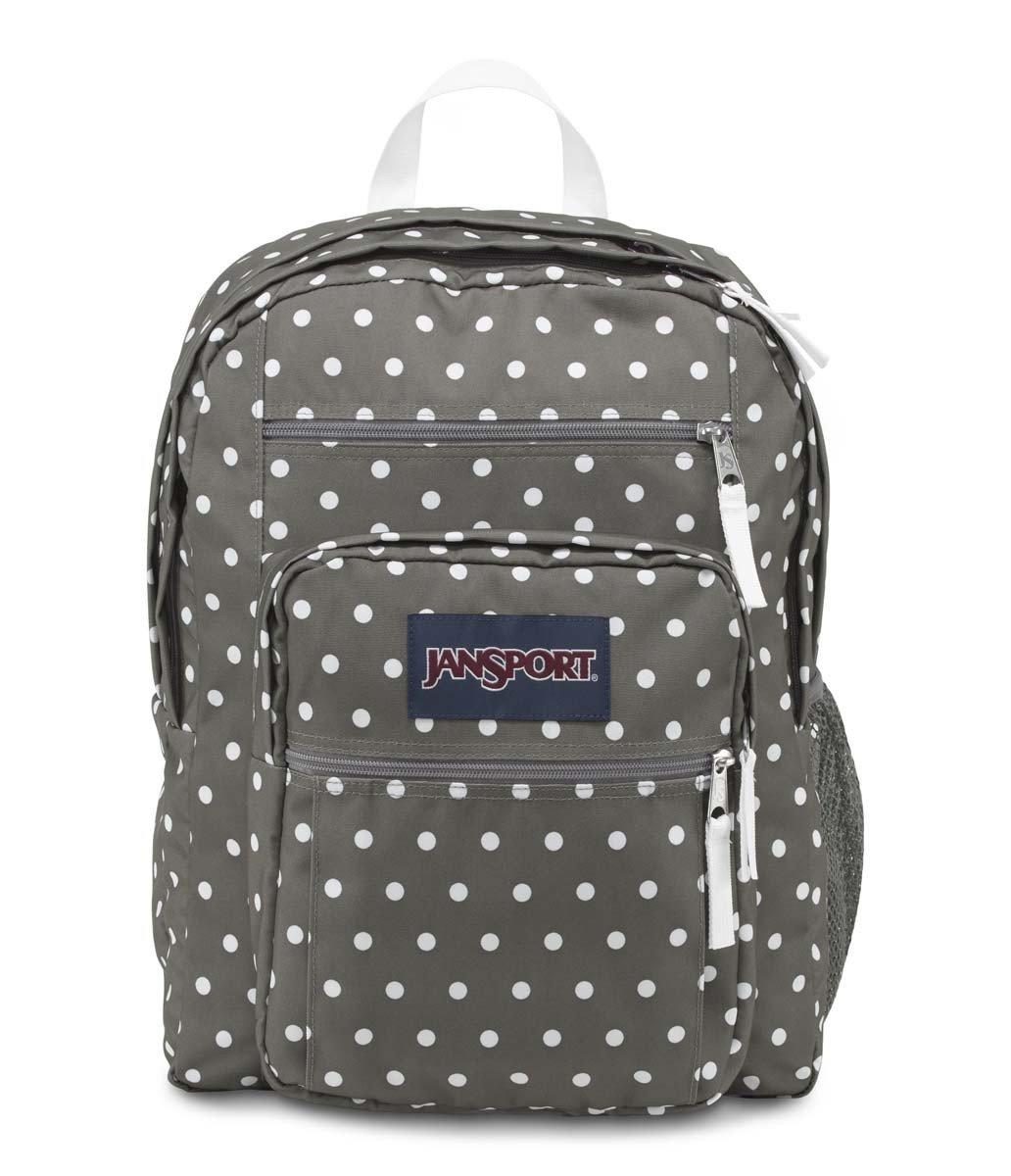 JanSport Big Student Backpack (Shady Grey/White Dots)