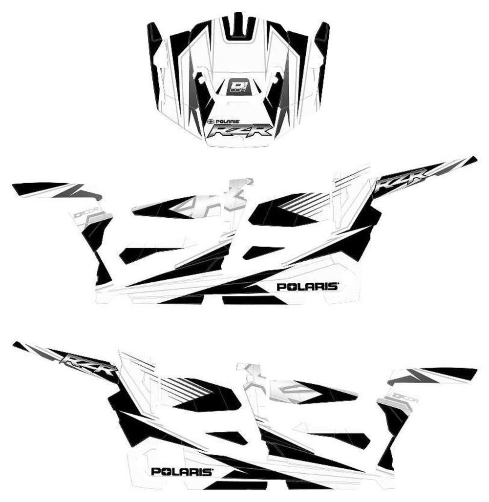 1 Pack D/'cor Visuals Dcor Visuals 20-60-111 Polaris Rzr4 Kit White//Black//Silver