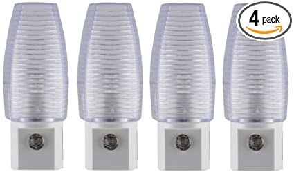 Lights By Night Automatic LED, 4 Pack, Sensing, Auto On/Off,