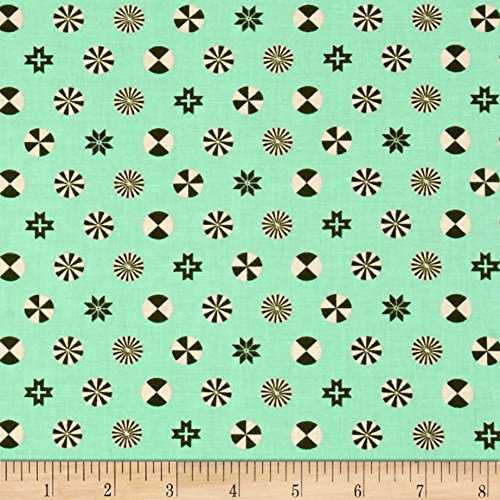 (FreeSpirit Fabrics 0521764 Tula Pink Holiday Homies Peppermint Stars Pine Fabric by The Yard)