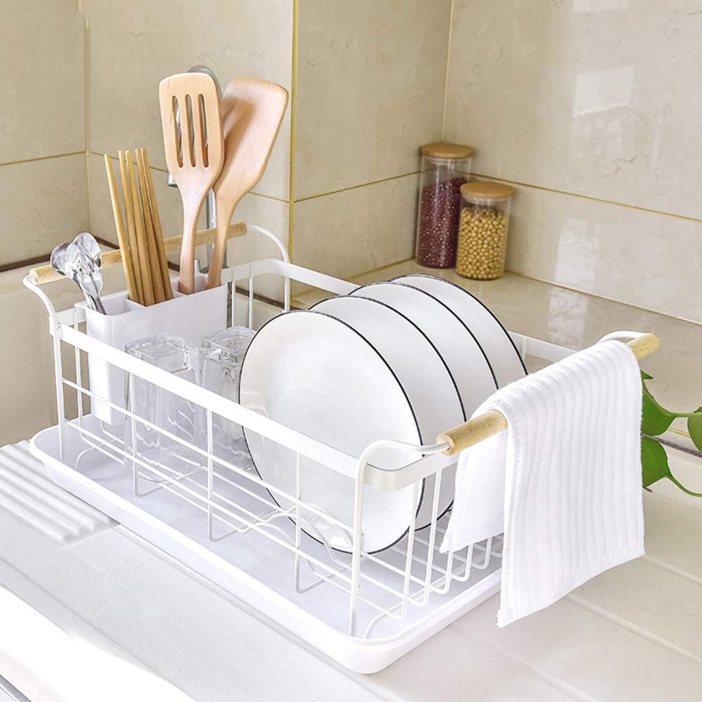 Plat /égouttoir porte-rack panier de cuisine rack de drain rack /évier rack de rangement de vaisselle multifonctionnel racks de table armoire de vidange