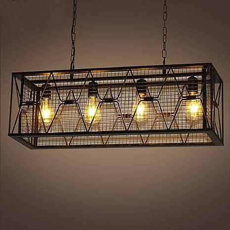Modeen 4 Luces Retro Hierro Industrial Araña de Metal ...