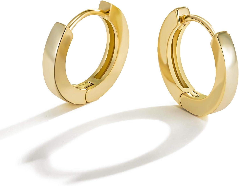 18k Rose Gold plated Huggie Hoop 9mm Sleeper Earrings Non-allergenic AUS MADE