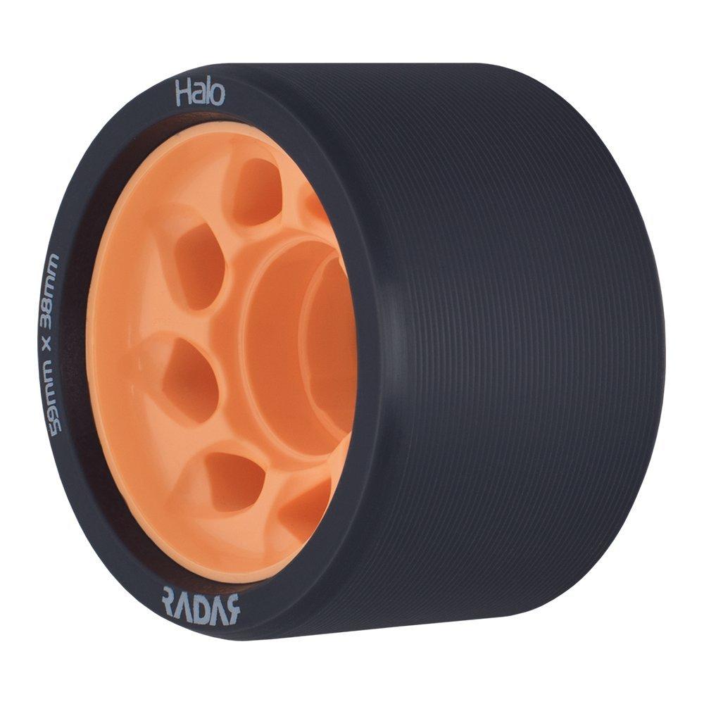 Roller Skate Wheels 4 Pack of 38mm x 59mm Wheels Halo Radar Wheels