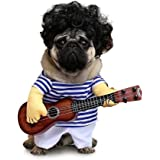 FanQube Dog Clothes Pet Guitar Costume Halloween Cosplay Party Outfit Suit for Dogs&Cats