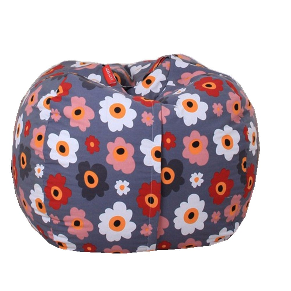 EXTRA LARGE Stuffed Animal Storage Bean Bag Chair with Extra Long Zipper, Carrying Handle, Large Size at 32'', 100% Sturdy Cotton. Excellent Solution for Toys and Clothes, Available For Boys And Girls by Mao (Image #1)