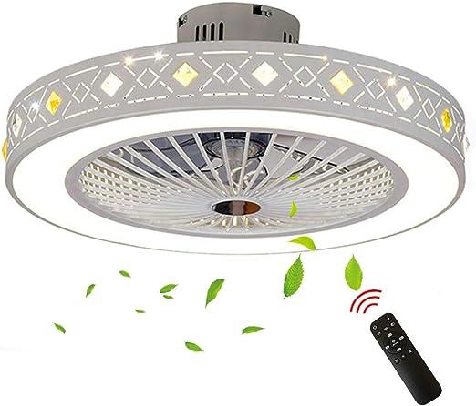 Ventilador de Techo LED Ventilador de Techo de Acrílico con Montaje Al RAS con Luz de Cambio de Tres Colores y Control Remoto (7 Hojas): Amazon.es: Hogar