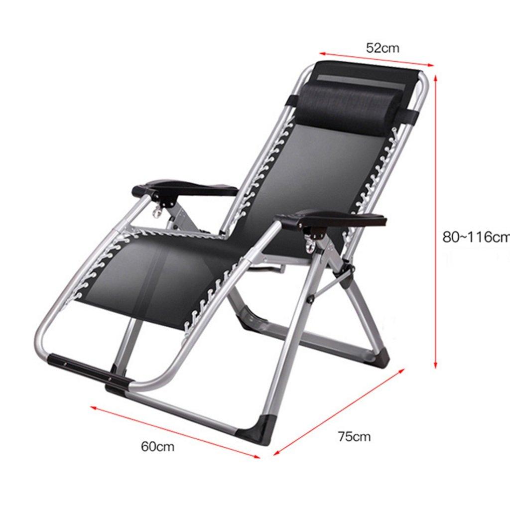 Amazon.com: Silla reclinable plegable de color negro para ...