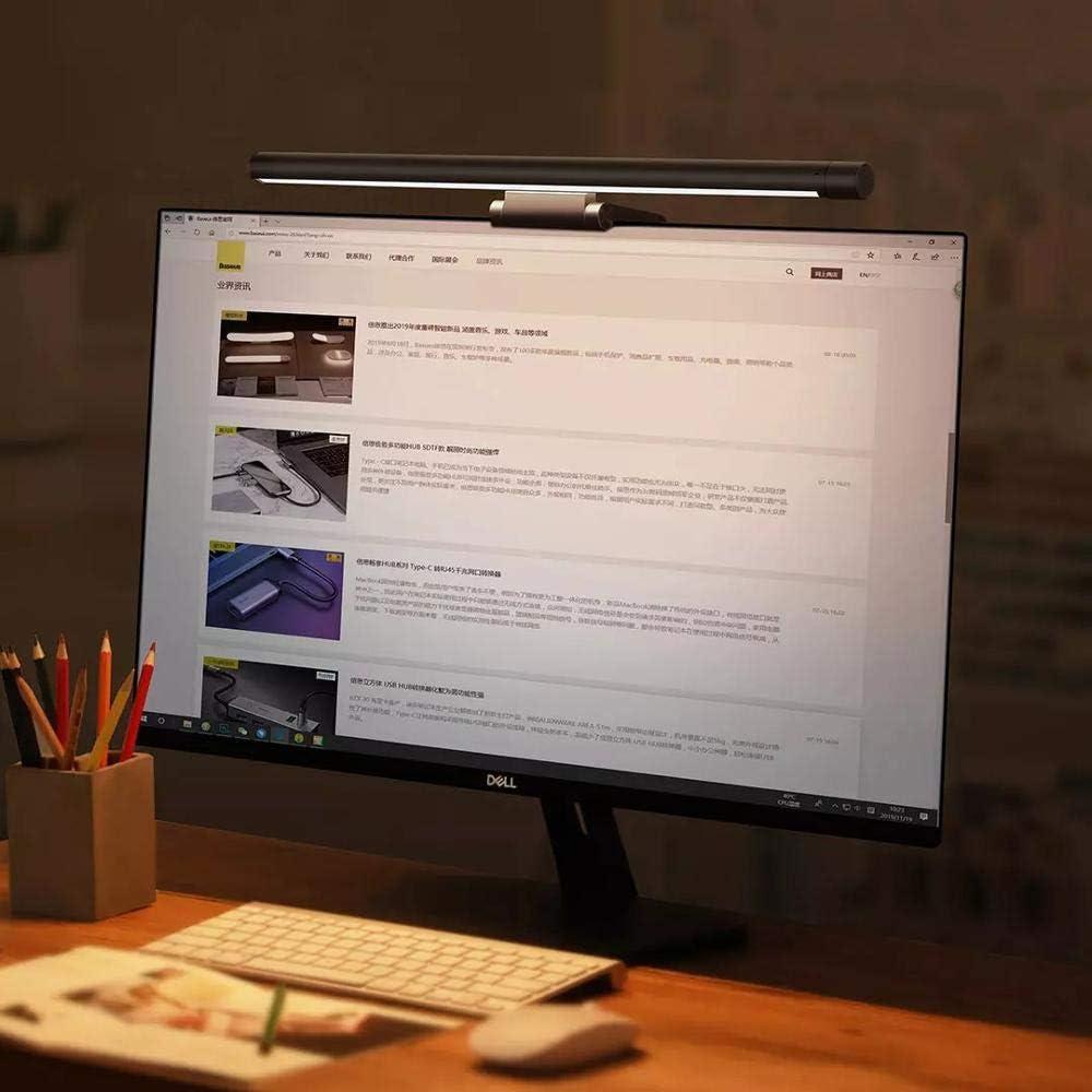 soin des yeux sans reflets d/écran-Noir lampe de bureau lampe de moniteur dordinateur aliment/ée par USB Lampe de travail /à lecture /électronique LED luminosit/é et temp/érature de couleur r/églables