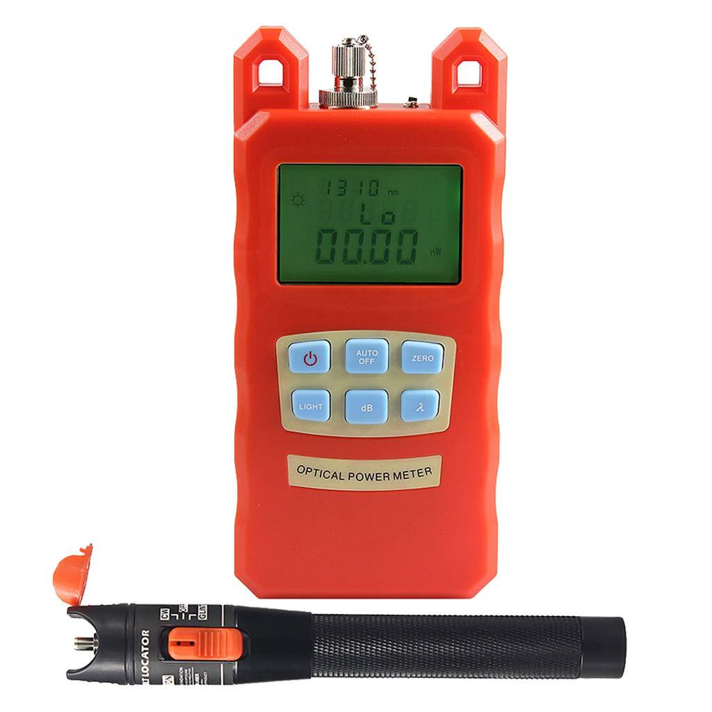 SM SunniMix Pack -70dBm~+10dBm 850~1625nm Optical Power Meter Tester FC SC Handheld Optical Power Meter + 10mW Visual Fault Locator Pen by SM SunniMix (Image #5)