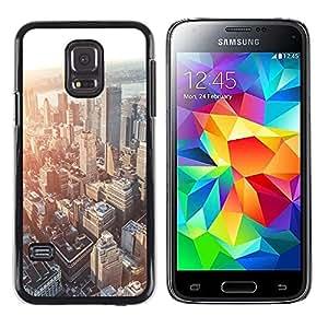 Be Good Phone Accessory // Dura Cáscara cubierta Protectora Caso Carcasa Funda de Protección para Samsung Galaxy S5 Mini, SM-G800, NOT S5 REGULAR! // city skyline Boston sunset arch