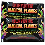 Magical Flames 25-pack: TWICE THE COLOR, half the price! Creates Vibrant, Rainbow Colored Flames