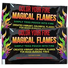 Magical Flames 12-pack: TWICE THE COLOR, half the price! Creates Vibrant, Rainbow Colored Flames