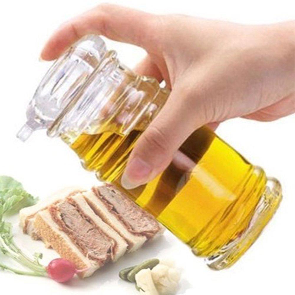 120/150/210ml Transparent Acrylic Sauce Bottle Clear Acrylic Vinegar Olive Oil Bottle BBQ Dispenser Shaker Seasoning Bottle for Home Kitchen Cooking Tool (120ML,Transparent-120ML) by YOEDAF (Image #1)