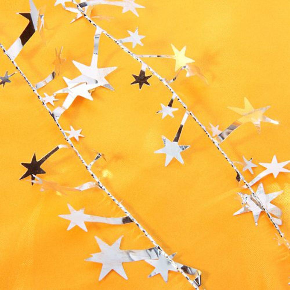 Lacheln Star Tinsel Garland Decoration for Christmas Tree Decor,2 Sets,49 Feet Total Blue