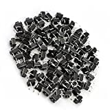 100 Pcs GZFY 6x6x5mm Panel PCB Momentary Tactile Tact Push Button Switch 4 Pin DIP