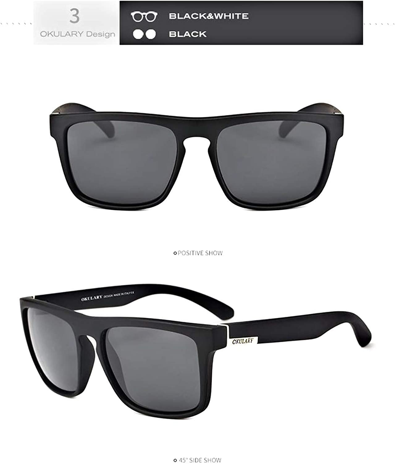 YLNJYJ Polarized Square Sunglasses Men Outdoors Sport Sun Glasses Safty Shades Eyewears With Boxes