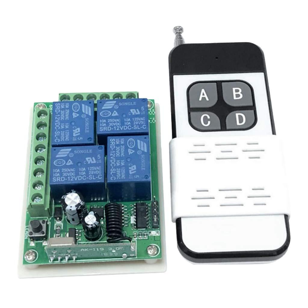 433MHz perfk Relais Schalter Modul Steuerungsschalter Fernbedienungsschalter DC 12V