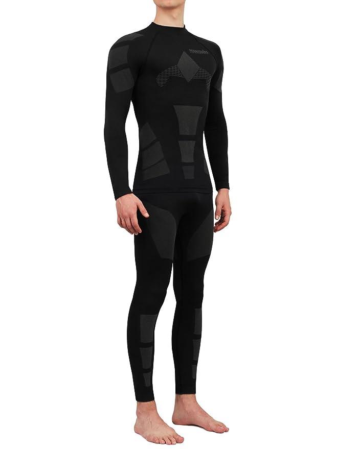 Mount Swiss© - Conjunto de ropa interior térmica Moto, para hombres, ropa interior de esquí, respirable.: Amazon.es: Deportes y aire libre