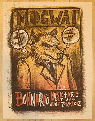 2012 Mogwai - Bonnaroo Concert Poster by Dan Grzeca