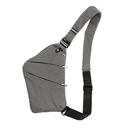 d24d04cc97 Image Unavailable. Image not available for. Color  Lixada Sling Backpack Chest  Bag Lightweight Outdoor Sport Travel Hiking Anti Theft Crossbody Shoulder  ...