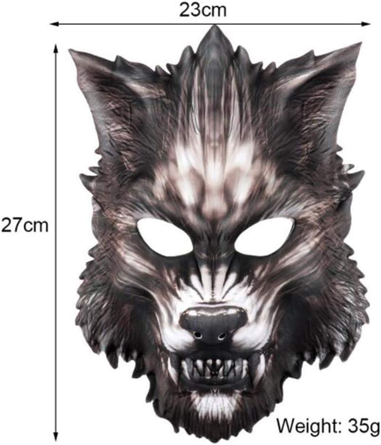 ABCDE Máscara de Hombre Lobo Vestir a los niños Halloween Máscara ...
