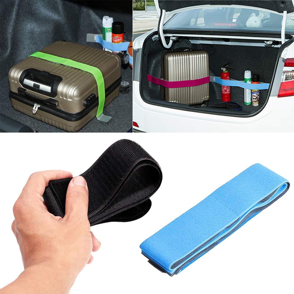 1 Sangle de rangement de coffre de voiture /élastique fixe bande autocollante magique 20cm-black