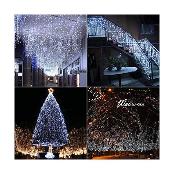 ipow 33M 300 LED Catene luminose Stringa luci Luci per albero di natale interno 8 Effetti di luce Impermeabilità IP44 Decorazione natalizia Interni ed Esterni, Matrimonio, Finestra, Luce Fredda 2 spesavip