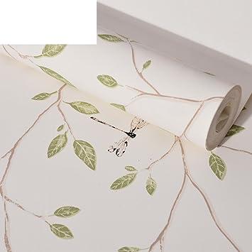 Tapete/Vliestapete frische Garten Blätter/Tapete Muster ...