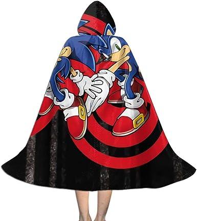 Amazon Com Ssxvjaioervrf Sonic The Hedgehog Boys Girls Kids Halloween Costumes Cloak With Hood Clothing