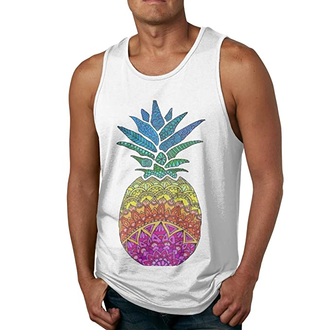 8877acc2c Amazon.com: YUYU Limited Edition Men's Pineapple Sport Tank Tops ...