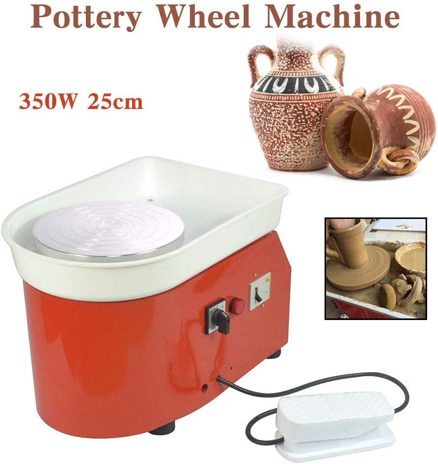 25cm 9.84 350W 110V Electric Pottery Wheel Ceramic Machine Work Clay Art Craft