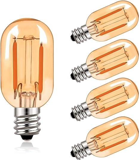 10 Dimmbar LED Leuchtmittel Birne E14 Sockel 4w Filament Vintage 2200K 360 Lumen