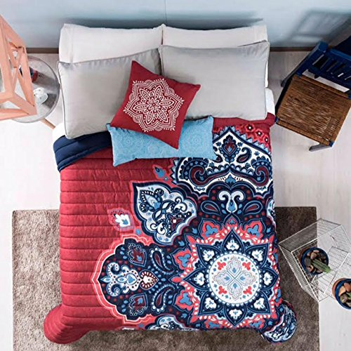 Cheap JORGE'S HOME FASHION INC BEST SELLER MANDALA FLOWERS TEENS GIRLS AND BOYS REVERSIBLE COMFORTER SET AND SHEET SET 9 PCS KING SIZE hot sale