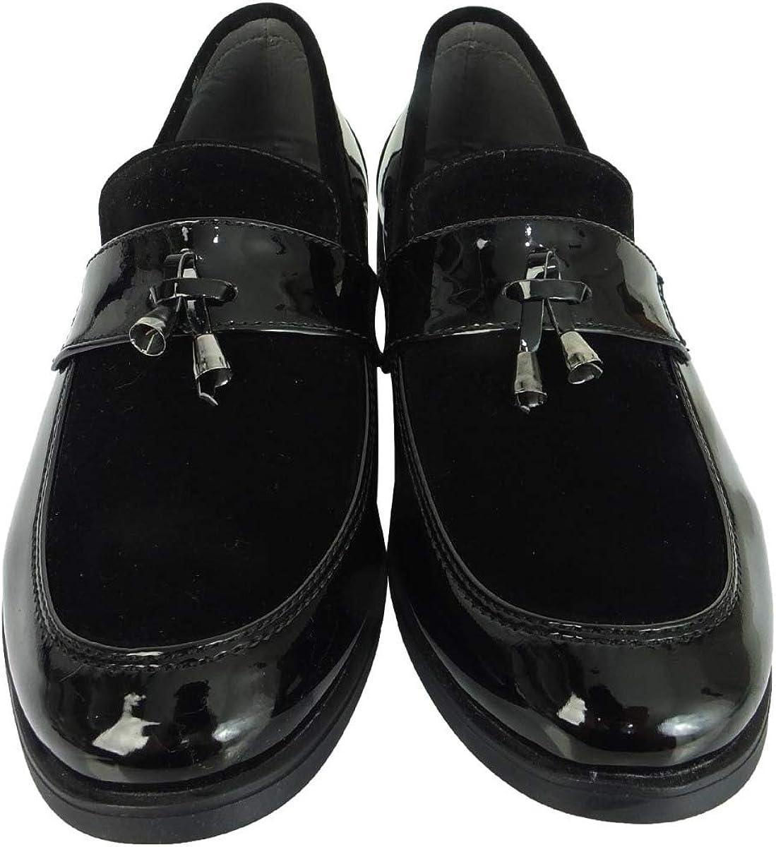 Enfants Filles Chaussures Verni Brillant Talon Bas Mocassins School Formelle à Enfiler NEUF BOX Taille