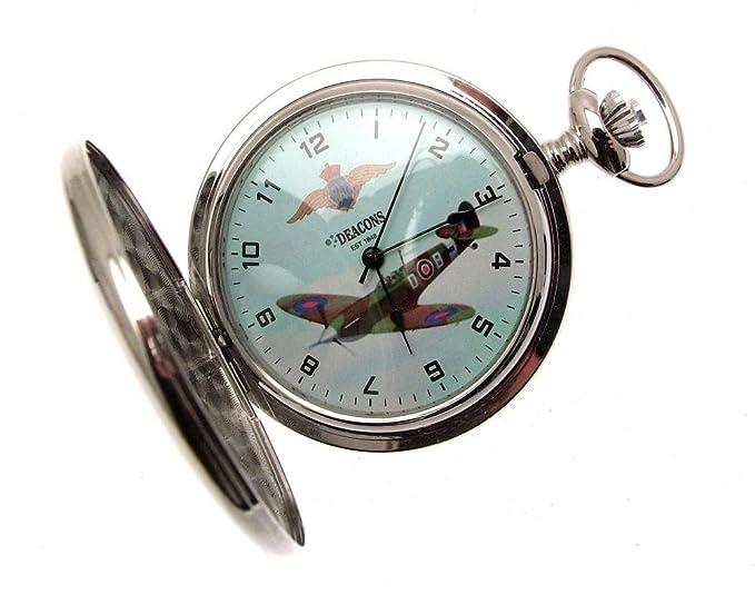 Relojes de bolsillo para hombre regalo para hombre Spitfire reloj de bolsillo Spitfire: Amazon.es: Relojes