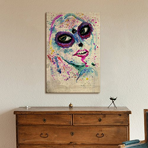 Print Day of the Dead (Dia De Los Muertos) Themed Art Sugar Skull Makeup